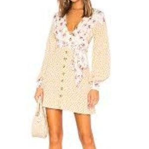 NWT Free People Ivory Wonderland Mini Dress Sz S